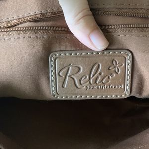 Relic Bags - relic purse shoulder bag red brown leather
